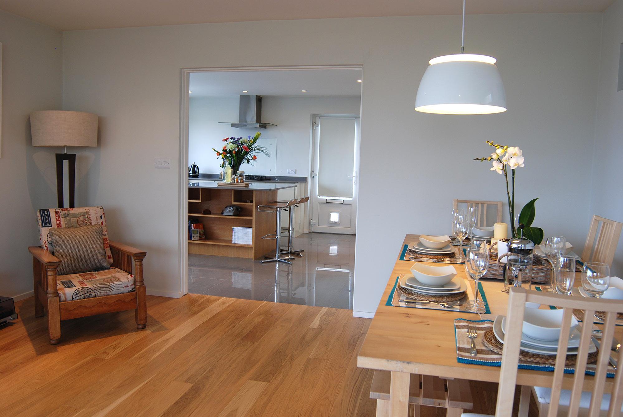 Building Modernization at Gwelanmor dinning area to kitchen